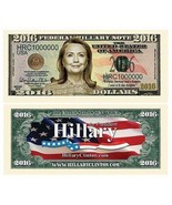 50 Hillary Clinton President Money Fake Million Dollar Bills 2016 Lot - ₨1,012.46 INR