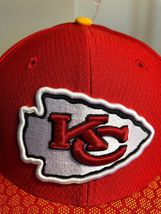 New Era 59Fifty Hat Kansas City Chiefs NFL 2017 On Field Sideline Fitted Hat!! image 8