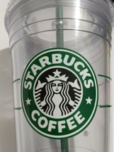 STARBUCKS Clear Plastic Cold Cup 16oz Tumbler w/Lid 2009 - $10.00