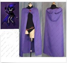 Anime Manga Hero Teen Titans Raven Women Cosplay Costume Whole Set For Halloween - $30.00