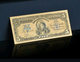 ☆AMAZING DETAIL☆ 《1899 SILVER CERTIFICATE》 INDIAN CHIEF  $5 Rep.*Banknotes - $16.16