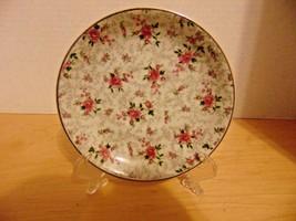 "Vintage Enarco Saucer 5 5/8""-Red/Pink Roses Gold Trim E-836 On Bottom-Tea Cup - $3.59"