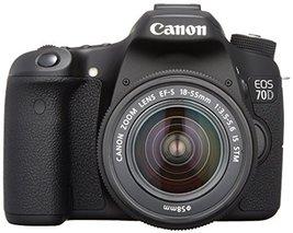 Canon DSLR camera EOS70D lens kit EF-S18-55mm F3.5-5.6 IS STM comes EOS7... - $1,632.77