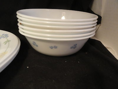 Set of Corelle 4 Dinner & 4 Dessert Plates 6 Cereal Bowls