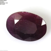 7.80cts Natural Untreated RED RUBY GEMSTONE Oval Shape Normal Cut 14*10m... - $7.02