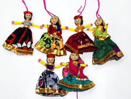 Handmade Indian Dolls Pair Indian Handicrafts Puppets Home Decor Ornamen... - $54.45