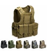 Airsoft Military Tactical Vest Molle Combat Assault Plate Carrier Tactic... - $69.99