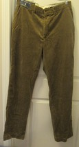 Polo Ralph Lauren Blue Label Men's Corduroy Pants 100%COTTON 36-34R Brown New - $164.75