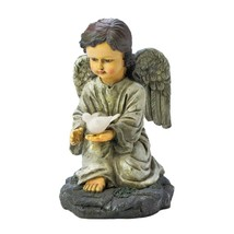 Solar Garden Figurines, Angel With Dove Led Lights Yard Solar Statues, R... - $33.29