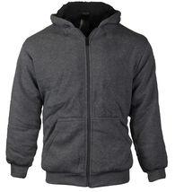 Boys Kids Toddler Athletic Soft Sherpa Lined Fleece Zip Up Hoodie Sweater Jacket image 3