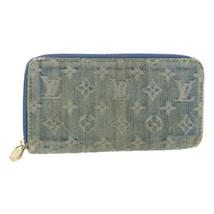 LOUIS VUITTON Monogram Denim Zippy Wallet Long Blue M95341 LV Auth 14670 - $480.00