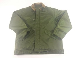 Vtg Alpha Military Extreme Cold Weather Impermeable Army Usn Deck Navy Jacket M - $137.61