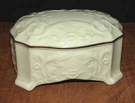 "LENOX Music Box ""Yesterday""-Porcelain w/Scrolled Design and Gold Trim - $7.43"