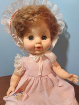 "Vintage  hard plastic Doll HORSMAN - 10"" Tall drink and wet open/close eyes - $29.70"