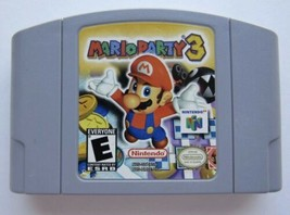 Nintendo N64 Game Mario Party 3 Video Game Cartridge Card USA Version No... - $29.65