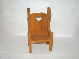 Handmade High Back Doll Chair, No Stain or Finish - $38.00