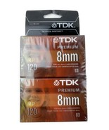 New Factory-Sealed 2-Pack TDK 8MM Cassette For All Camcorders | 120 Minu... - $15.74