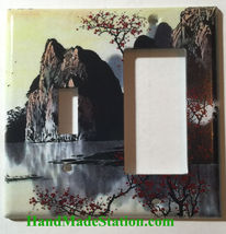 Famous Chinese Landscape Painting Light Switch Outlet Duplex Wall Cover Plate image 7