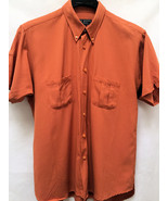 Ted Baker Mens L Shirt Orange Short Sleeve Casual 4 - $21.98