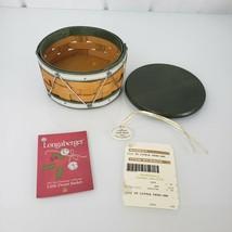 Longaberger 2012 Tree Trimming Little Drum Basket Lid Tie On Green - $69.29