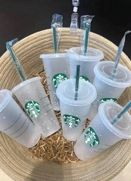 Primary image for Starbucks Reusable Confetti Color Changing 24oz Cold Cup Summer 2020 Clear Lid