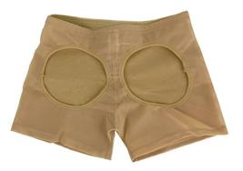 NEW WOMEN'S FULLNESS BUTT BOOSTER LIFTER SHAPER BOY SHORT PANTY BEIGE #8077 image 4