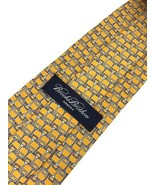 "NEW BROOKS BROTHERS MAKERS SILK Tie Yellow Made in Italy Tie 58"" - $19.95"