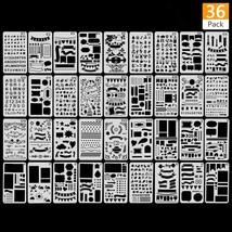 36PCS Plastic Stencil Journal Stencil Planner Stencils Drawing Template ... - $12.65
