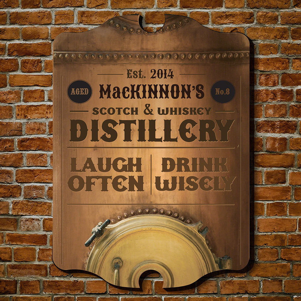 Primary image for Whiskey Distillery Personalized Bar Sign