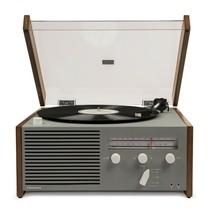 Crosley CR6033A-GY Otto Turntable Record Player w/ AM FM Radio & Bluetooth Grey - $149.00