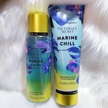 Victoria's Secret Marine Chill Body Mist Lotion 2 Pcs New Set - $30.84