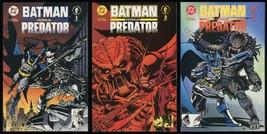 Batman versus Predator Comic full set #1-2-3 Lot vs 1st Print Bagged & Boarded - $30.00