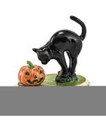 Non Metal Bejeweled Spooky Black Cat & Pumpkin Trinket Box (Length=1.2) ... - $45.91