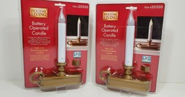 LED Holiday Living Battery Operated Candles Set of 2~ New - $24.74