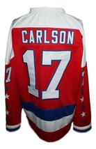 Any Name Number Baltimore Skipjacks Retro Hockey Jersey Red Carlson #17 Any Size image 2
