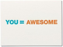American Greetings Awesome Thank You Greeting Card (5760252) - $15.53