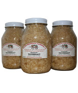 AMISH ORGANIC SAUERKRAUT 100% Natural 32 oz Quart Jars Homemade in Lanca... - $10.86+