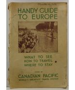 Handy Guide to Europe by Canadian Pacific - $14.99
