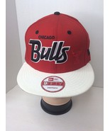 New Era 9Fifty Snapback Chicago Bulls Adjustable Hat Cap Red White Spell... - $21.40