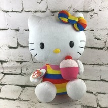 "Ty Hello Kitty 12"" Plush Striped Swimsuit With Cupcake Stuffed Animal Sa... - $14.84"