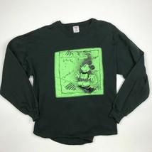 Vintage Disney Women's Sweatshirt Size XL Black SF25 - $19.79