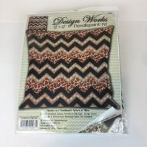 Design Works Needlepoint Kit Leopard Zig Zag Chevron 12x12 Pillow #2567 NEW - $18.81