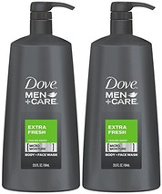 Dove Men+Care Body Wash, Extra Fresh 23.5 Ounce (Pack of 2) - $25.04