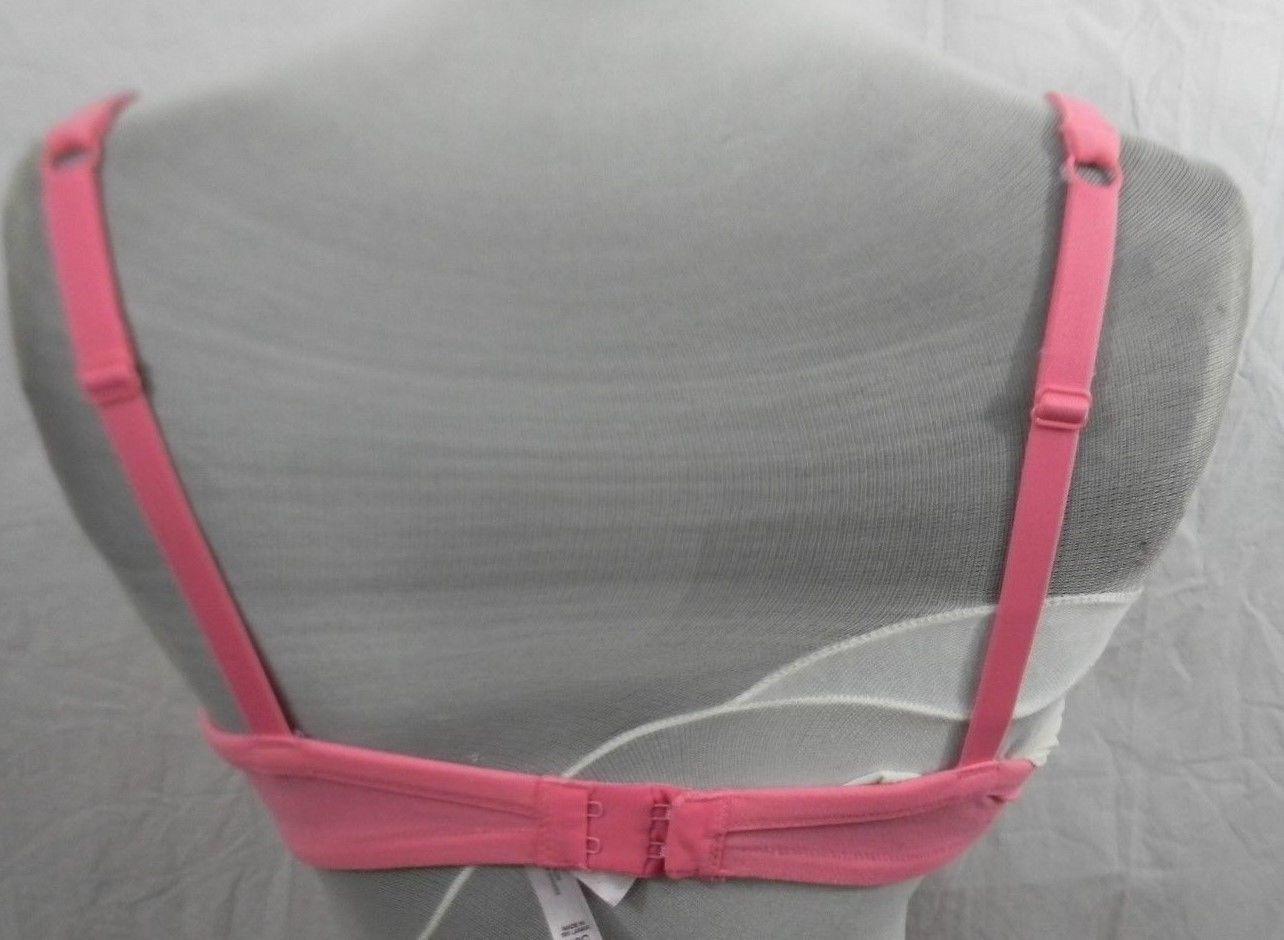 Victoria's Secret Womens Bra Size 36C Coral Pink Underwire Soft Nylon/Spandex