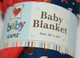 Baby Ganz BG3437 Sports Blanket 36 by 30 inches Birth and Up Red Blue image 3