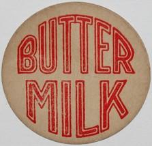 Vintage milk bottle cap BUTTER MILK large red lettering unused new old s... - $9.99