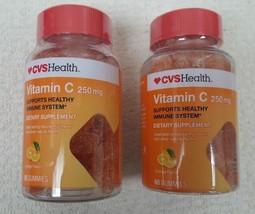 CVS Health LOT OF 2 Vitamin C 250 mg Orange 60 Ct Gummies Exp 5/19 - $9.85