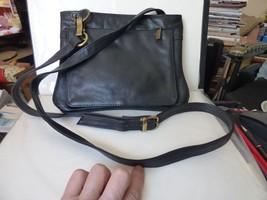 VINTAGE Late 1990s Carlos D'Santi Black Leather Cross Body Shoulder Bag ... - $25.00
