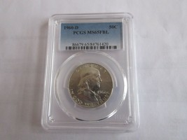 1960-D , Franklin Half Dollar , PCGS , MS65FBL - $395.00