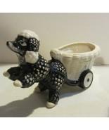 Vintage poodle figurines - planter - $22.36